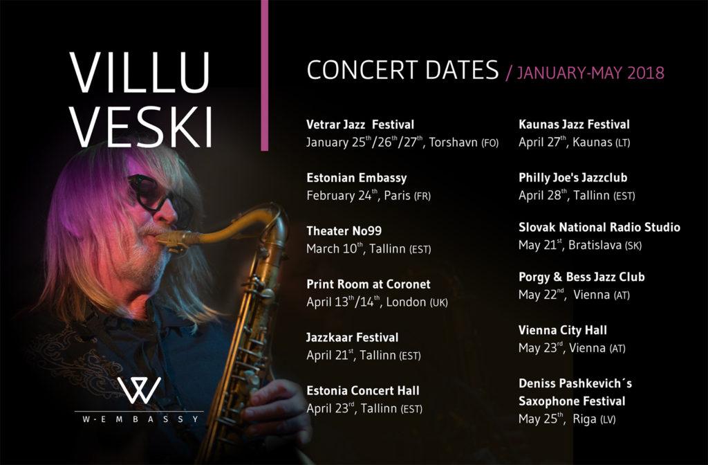 Villu Veski konsertkalender